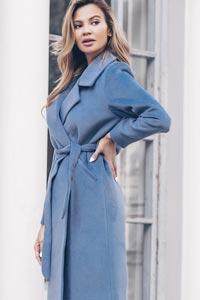 Пальто синего цвета: модный тред зимы 2019