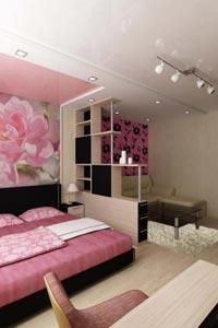 Зонирование современных жилых комнат