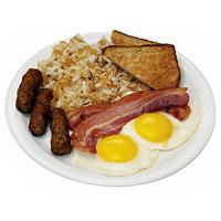 Обильный завтрак приводит к ожирению