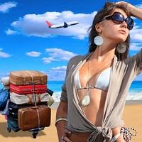Что женщина обычно берёт в отпуск?