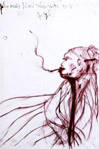 Оригинальный автопортрет Кейт Мосс уйдет с молотка