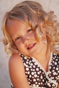 Красота здоровых детских волос.