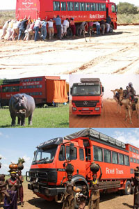 Отели в автобусах возят постояльцев по всей Земле