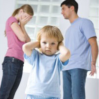 Семейные ссоры негативно влияют на развитие мозга ребенка