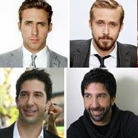 Знаменитости с бородой и без (фото)