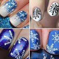 Святковий нейл-дизайн: Сніжинки на жіночих нігтиках (30 фото)