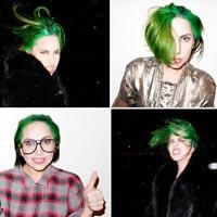 Леди Гага покрасила волосы в зеленый цвет (фото)