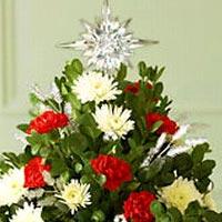 Ёлки из цветов — новогодний тренд 2014 года (фото)