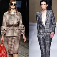 Модные женские костюмы в клетку 2014