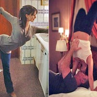 Оригинальная йога от жены Алека Болдуина (26 фото)