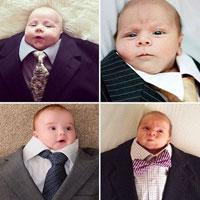 Инстаграм-флешмоб: младенец в папином костюме (15 фото)