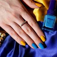 Яркие ногти разных цветов - тренд в летнем маникюре 2014 (20 фото)