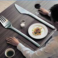 Использование вилок большого размера ведет к похудению