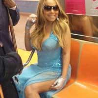 Мэрайя Кэри эпатировала своим появлением в метро