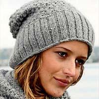 Женские вязаные шапки осень зима 2014
