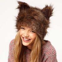 Модный тренд: меховая шапка с ушками (13 фото)