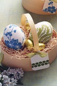 Украшение пасхальных яиц при помощи декупажа (15 фото)