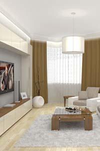 Правильные шторы делают комнату визуально больше