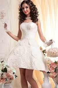 Модные короткие свадебные платья 2015 (16 фото)