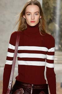 Водолазка в полоску - модный тренд зимы 2016 (фото)