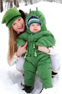 Как одевать малыша на зимнюю прогулку