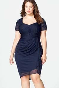 Модели платьев для полных женщин весна 2016