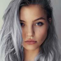 Сірий колір волосся - модний тренд весни 2016 (фото)