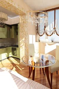 Дизайн кухни со смежным балконом