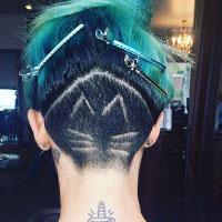 Зачіски з поголеними скронями і потилицею - тренд сезону (фото)