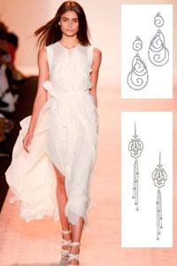 Правильное украшение для платья: выбираем длинные серьги
