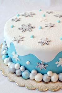Готовим и украшает мастикой торт Снежный