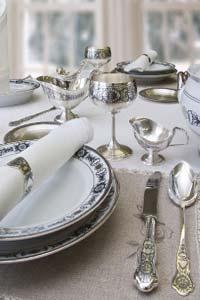 Польза приема пищи из серебряной посуды