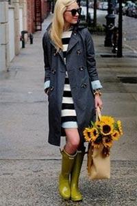 Резиновые сапоги – удобная женская обувь осеннего сезона