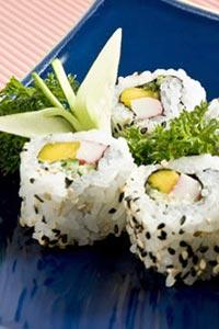 Роллы с рисом и овощами