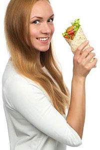 Мексиканская еда: буррито с фасолью