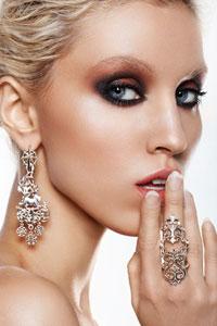 серебряные кольца и серьги