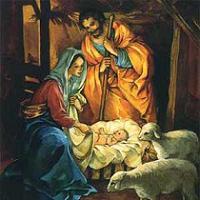 История Рождества: и появился на свет Спаситель мира и, спеленутый, положен был в ясли на солому..